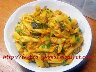 Πένες (ζυμαρικά) με καλοκαιρινή σάλτσα λαχανικών