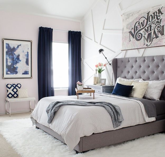 Blue White Gray Guest Rooms