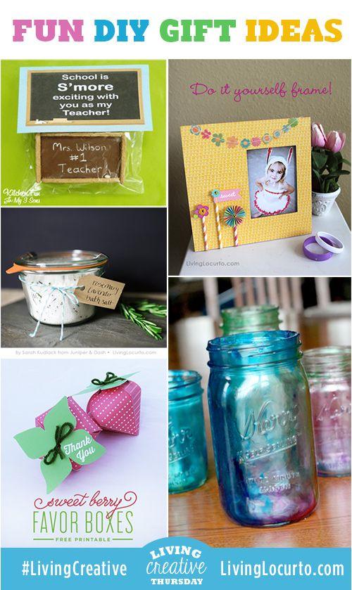5 Fun DIY Gift Ideas! LivingLocurto.comFun Diy, Creative Gift Wraps, Gift Basket Ideas, Creative Gift Wrapping, Gift Ideas, Diygifts, Diy Gifts, Handmade Gift, Gift Baskets Ideas