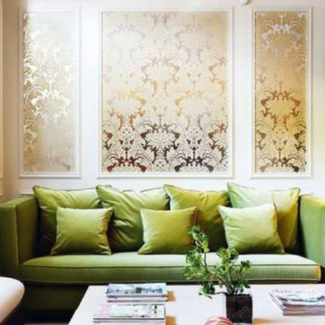 Image result for lime green brocade sofa