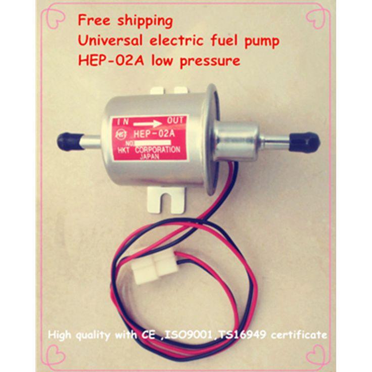 Gratis pengiriman bahan bakar diesel bensin bensin 12 V listrik pompa tekanan rendah pompa bahan bakar HEP-02A untuk karburator, sepeda motor, ATV