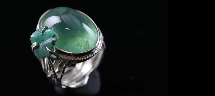 Anello di Giada e fluorite..
