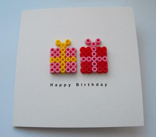 Birthday card ideas - would be cute for Devin to make for Nana's birthday.