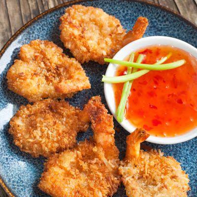 Coconut Shrimp with Sweet Chili Sauce @keyingredient #shrimp