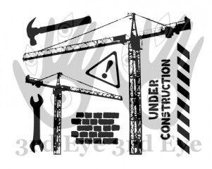 under construction set TES-110 stamp from 3rd Eye <3 http://3rdEyeCraft.com