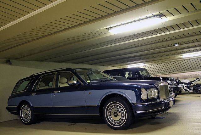 Circa 2000 Silver Seraph Shooting brake in blue over blue.  Nicely done :-)