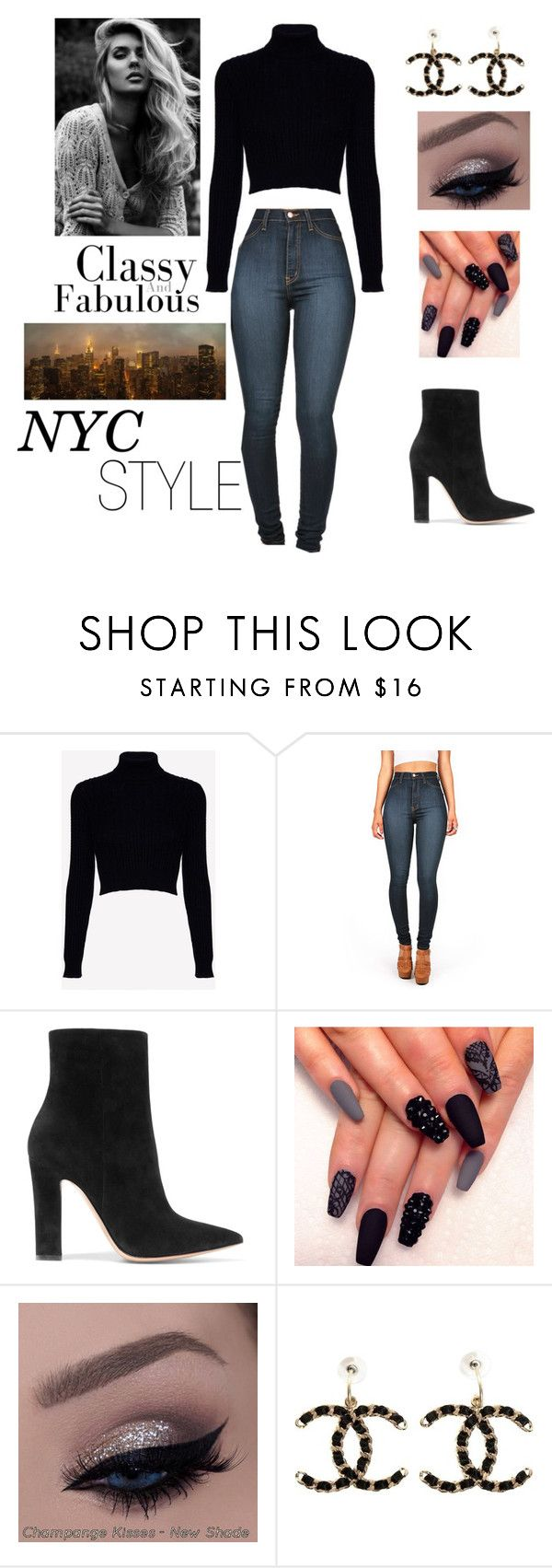 """nyc style"" by ailenebautista ❤ liked on Polyvore featuring Jack Wills, Vibrant, Gianvito Rossi, Chanel and NYC"