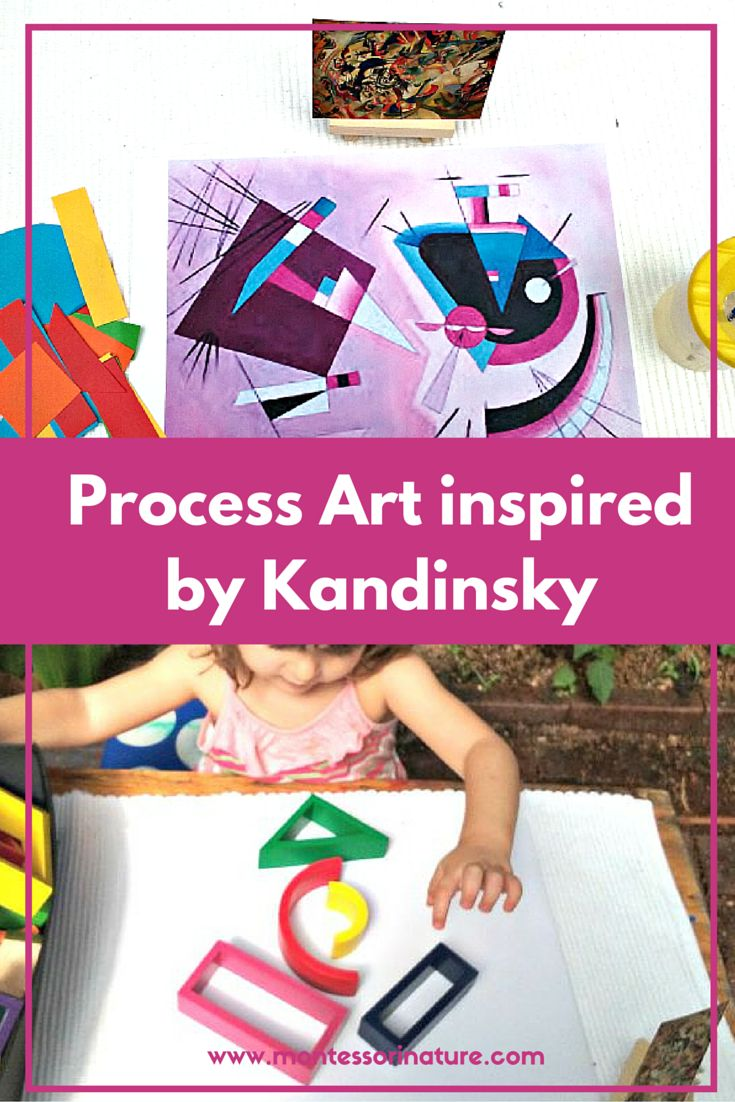 Montessori Nature: Preschool Process Art Inspired by Kandinsky.