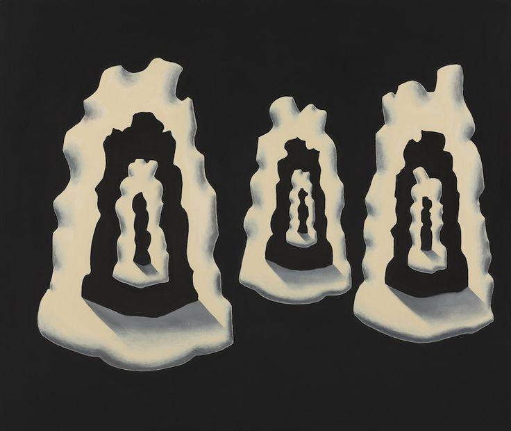 Brigt Space / Dark Space 2013 acrylic on linen