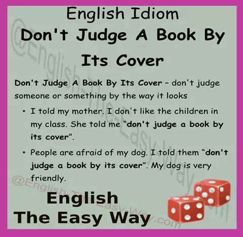 meaning of don t judge a book by its cover