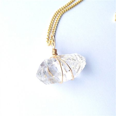 Herkimer Diamond necklace. Available now at madeit.com.au