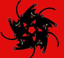 NINJA CAT FIGHT by peter chebatte