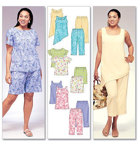 M4097 Women's Top, Tunics, Shorts & Capri Pants