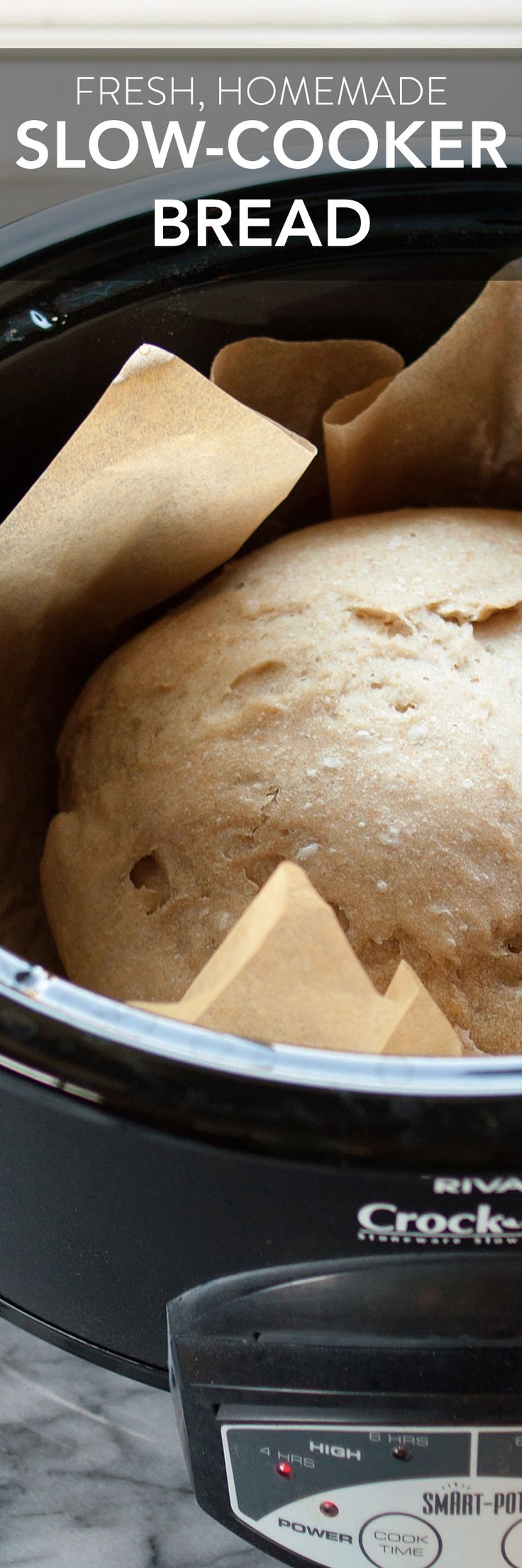 Fresh, homemade from scratch, slow cooker bread. Did you know there were recipes for baking bread in crock pots? This is such a neat tip and a great trick for keeping the kitchen cool when it's hot!