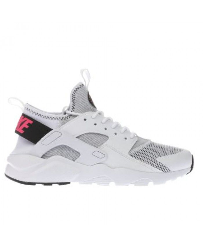 9a84af93cd4 Nike Air Huarache Ultra Breathe Junior White Black Pink Trainers ...