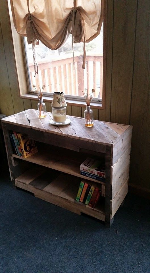 Rustic book shelf made of pallets. Dimensions are 36x24x12. (can be made to fit your needs...pricing may vary) *For a shipping quote contact us.