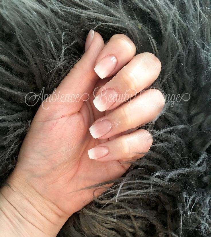Polygel babyboomer, Ombre , French fade nails, classic nails , bridal nails