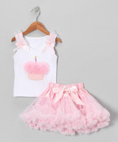 Look what I found on #zulily! Pink Rosette Cupcake Tank & Pettiskirt - Infant, Toddler & Girls by Royal Gem #zulilyfinds