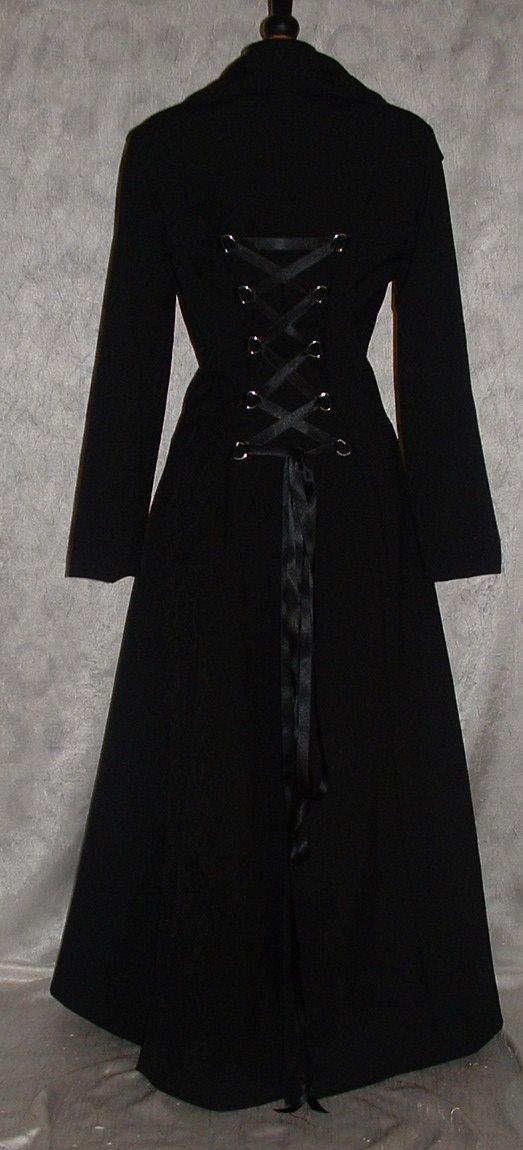 Long Coat  black Fit n Flare  Full Length. By DarkestDreams - Etsy