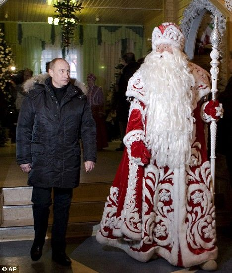 russian Santa Claus | ... man dressed up as Ded Moroz, the Russian equivalent of Santa Claus
