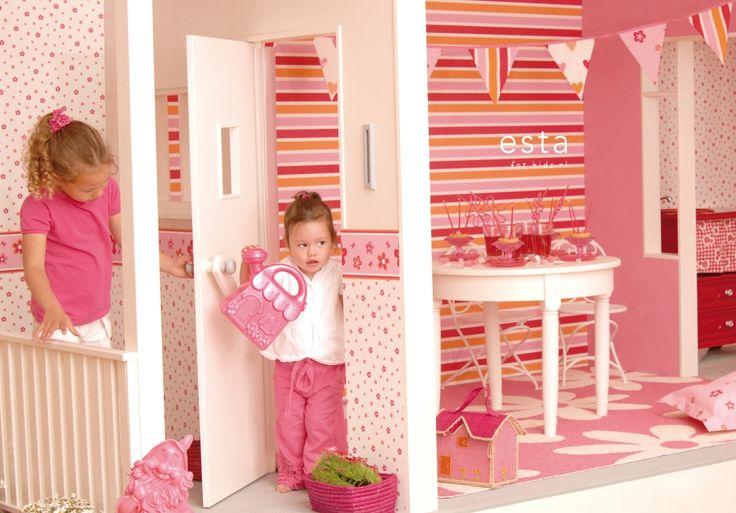 wallpaper floral pink Keek-a-boo 114634 #behang #Tapete #papier peint #wallpaper #papel pintado #papel tapiz #carta da parati #bloemen #roze #floral #pink #Blumen #Rosa #floral #rose #fiori #rosa #floral #rosa #ESTAhome.nl  #Keek-a-boo#meisjeskamer #Mädchenzimmer #dormitorio de chicas #chambre fille #camera da letto delle ragazze #girls bedroom #babykamer #Babyzimmer #dormitorio bebe #chambre bébé #camera da letto bimbi #nursery #lief #süß #mono #mignon #dolce #cute #roze #Rosa #Rosa #Rose…