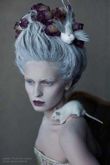 Filatova Irina and Yarum Ann,avant garde hair and make-up.