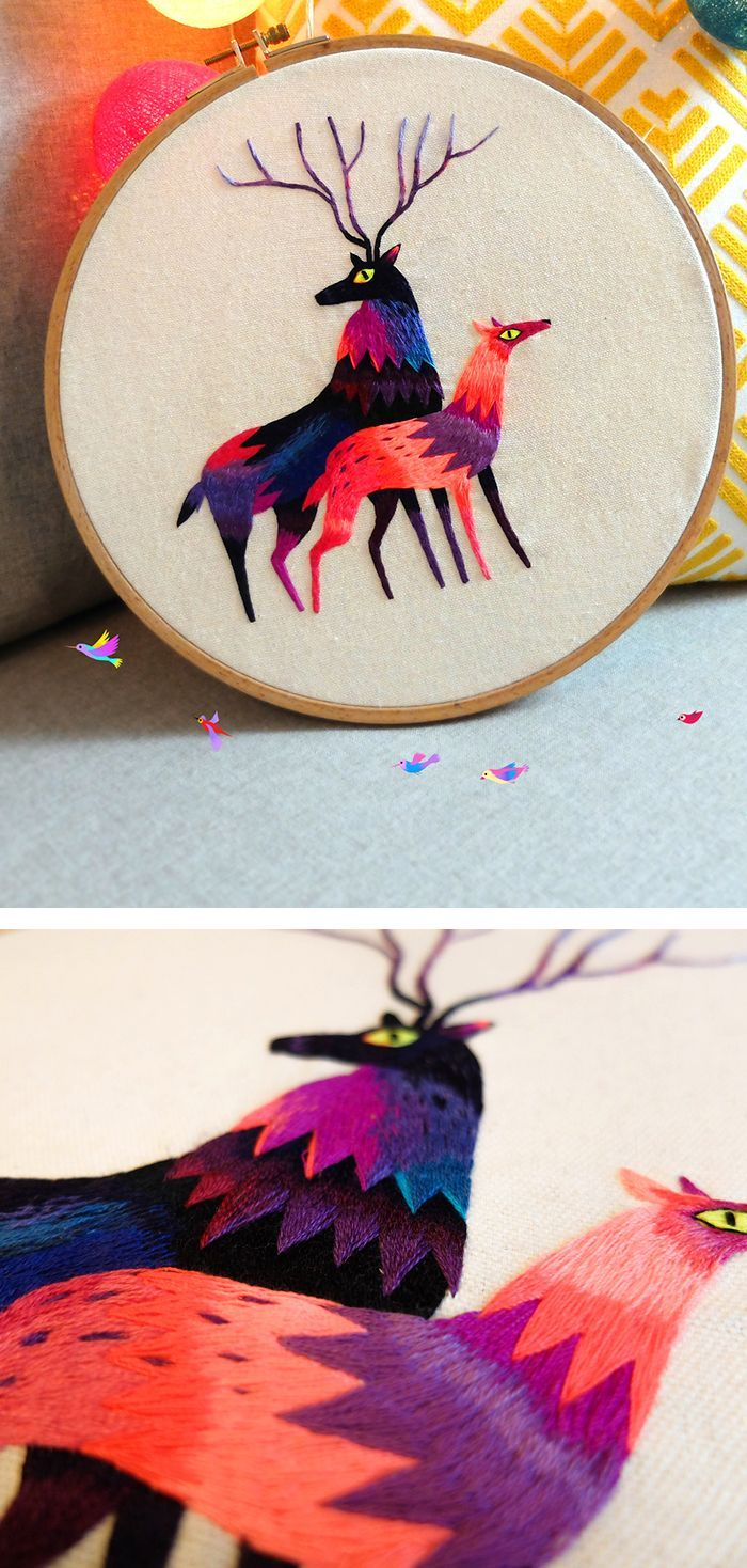 Embroidery by Juliette Oberndorfer #embroidery #embroideryart #hoopart