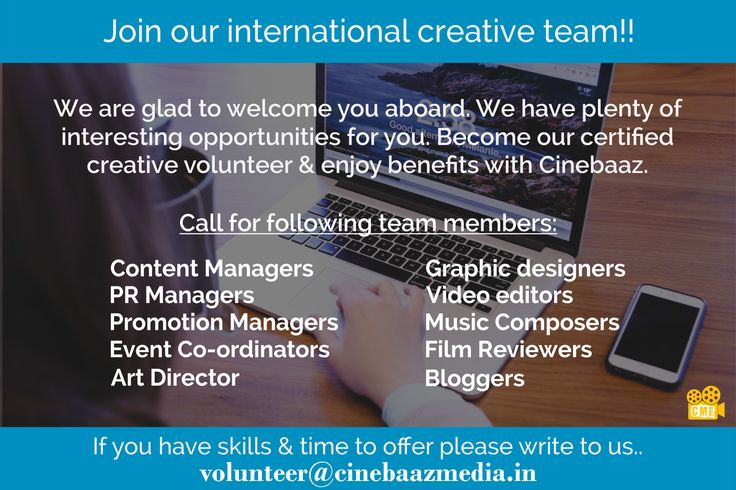 Join the amazing Volunteer Campaign from Cinebaaz..