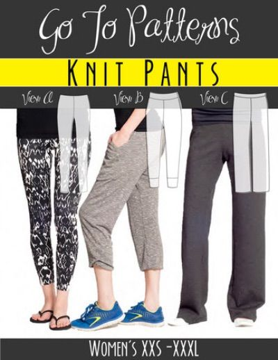 Top 10 Women's Patterns To Sew With Lycra: Patterns Go To Leggings from Go To Patterns http://www.sewsnbows.com/womens-patterns-to-sew-with-lycra/
