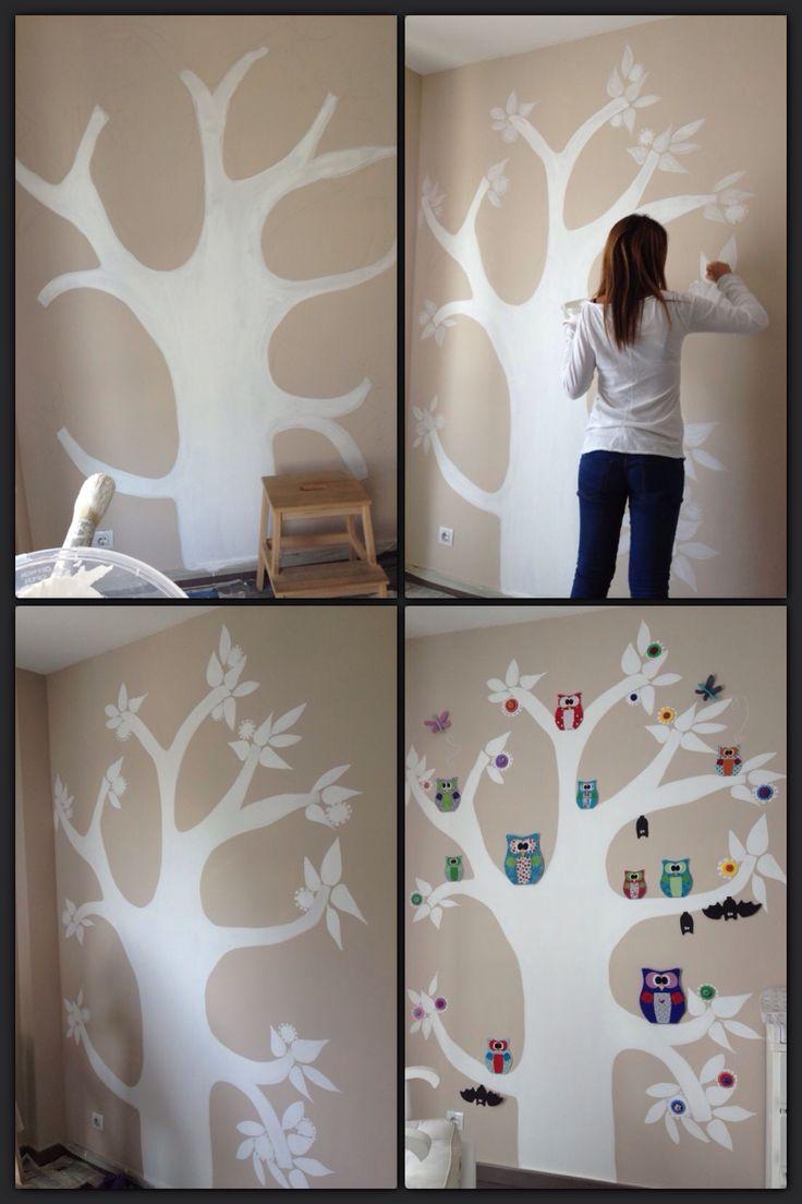 cristinalujan.com Pintura mural en dormitorio infantil