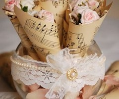 music paper decorations