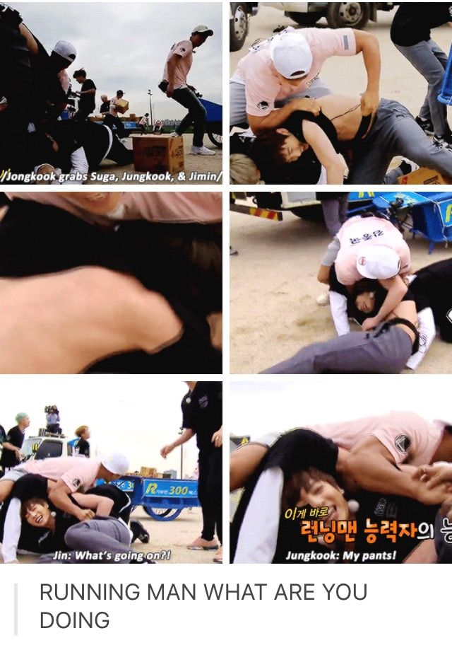 BTS on Running Man | Jongkook vs Suga, Jimin and Jungkook (ft. Jin who is concerned for his children)