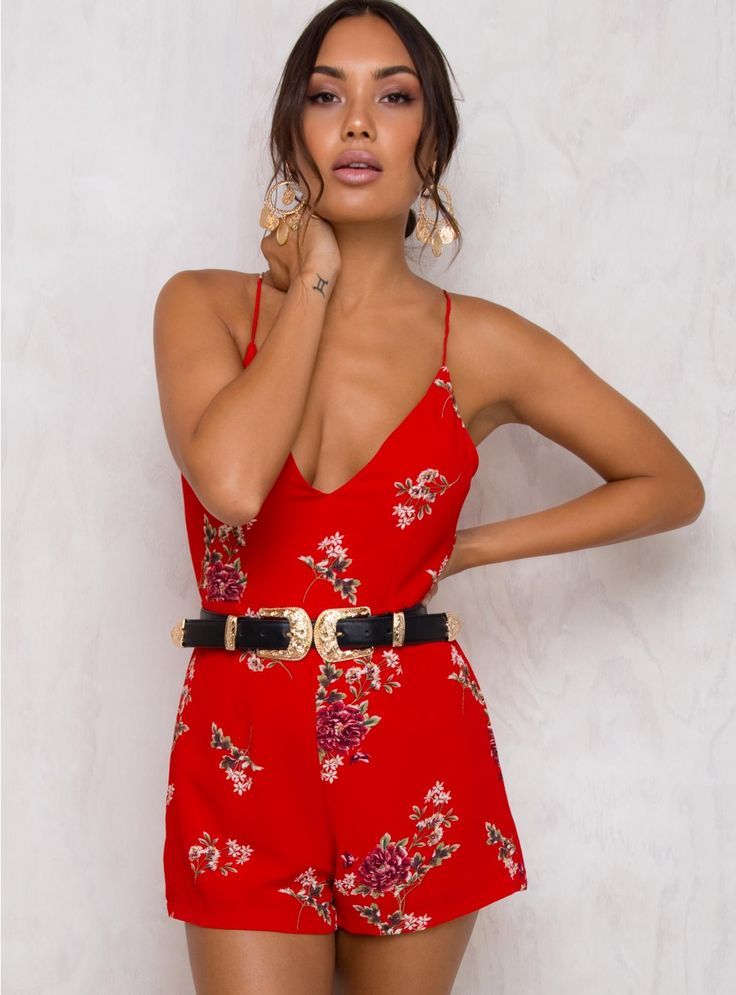 Sherry Darling Floral Playsuit