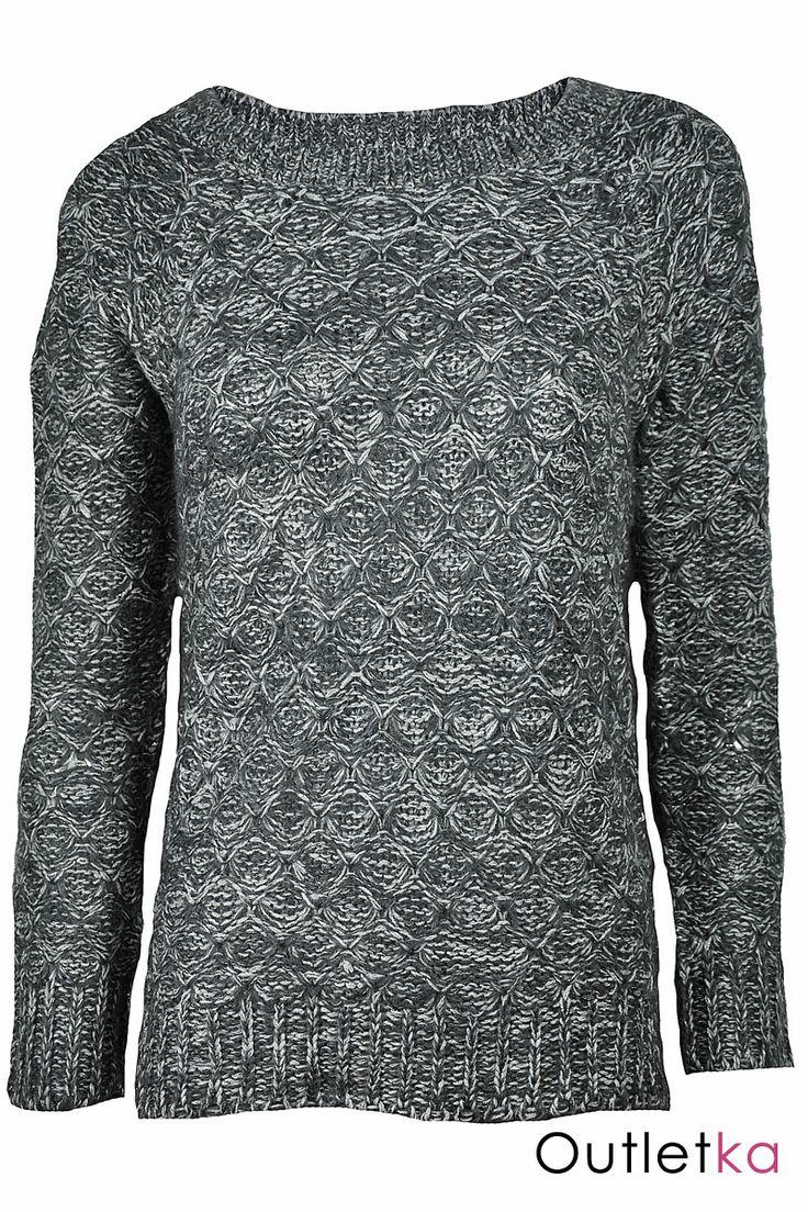 Sweter grafitowo-siwy, dostępny także w 4 różnych kolorach