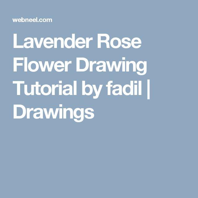 Lavender Rose Flower Drawing Tutorial by fadil | Drawings