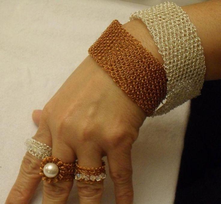 Punto peruano mi especialidad ,pulseras ,sortijas, en plata y cobre¡¡ Marita Marquez