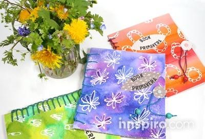 PASO A PASO: BOOK PRIMAVERA. Un Book de dibujo que invita a llevártelo al campo para realizar tus dibujos florales o de paisajes primaverales.  http://innspiro.com/blog/paso-a-paso-book-primavera