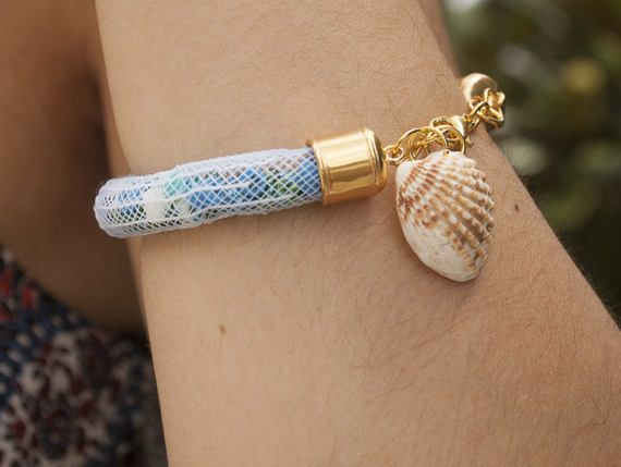Fishnet Bracelet with Seashell