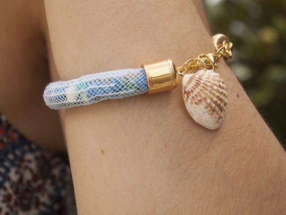 Fishnet Bracelet with Seashell