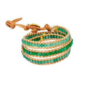 Jade Aventurine-stone spiral bracelet by Dora By Ebru // Jade-Aventurin taşlı sarmal bileklik - Dora By Ebru