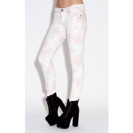 p Light floral patterm skinny jean/p p 95% cotton, 5% elastane/p