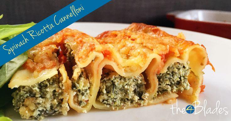 Thermomix Spinach Ricotta Cannelloni