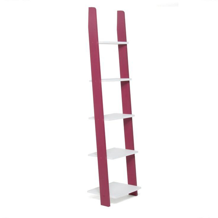 Étagère 5 tablettes rose et blanc Fuchsia/blanc - Mendi - Étagères - Livings et étagères de salon - Salon et salle à manger - Décoration d'intérieur - Alinéa