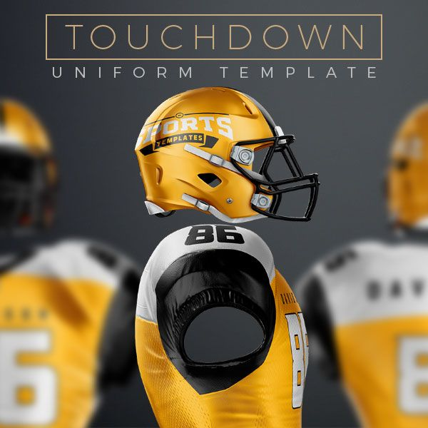 Football uniform Template mockup for photoshop | Leones ...