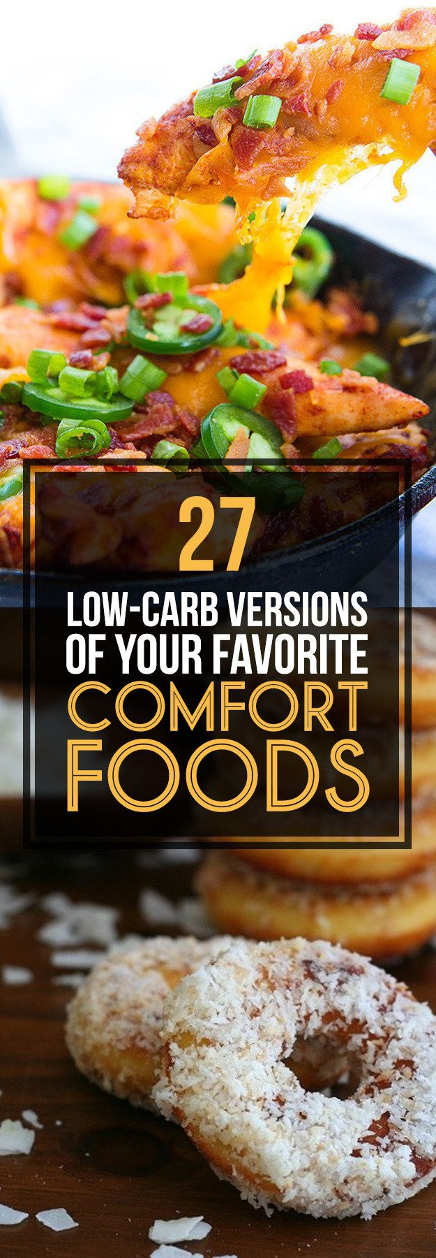 27 Low-Carb Versions Of Your Favorite Comfort Foods! Stressed? Need to Lose Weight too? I have my clients stock up during stressful times on these! I personally lost sixty pounds and used essential lotions and creams to keep my skin tight and to avoid stretch marks. check out the posts! https://victoriajohnson.wordpress.com