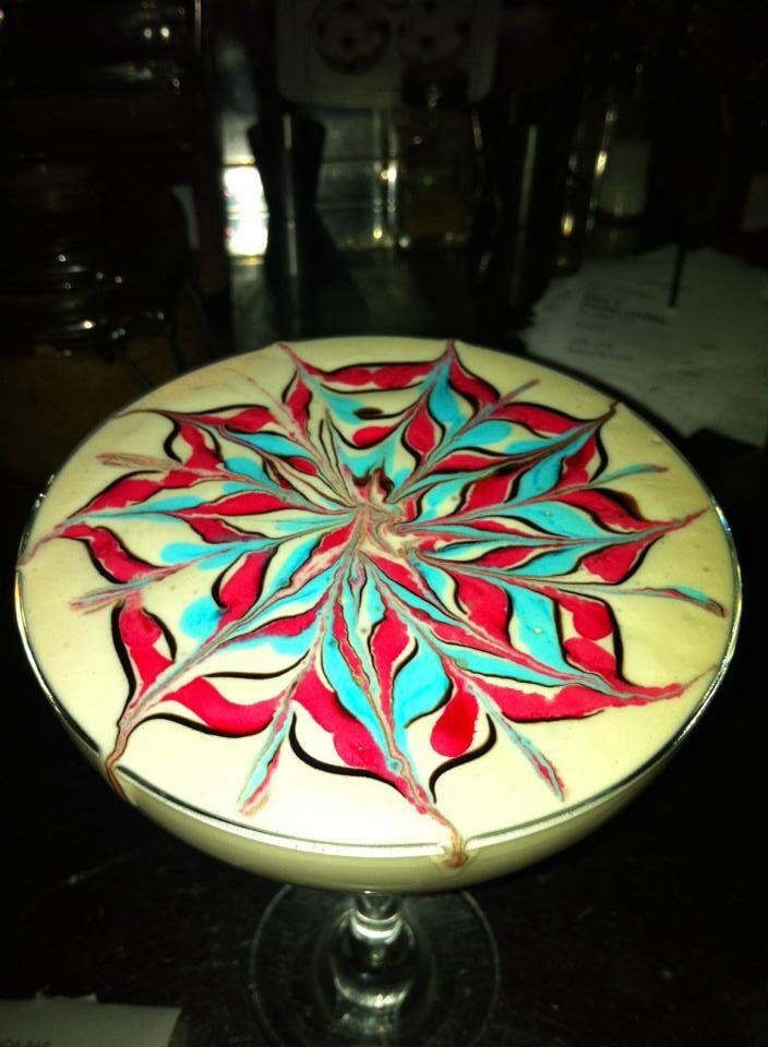 Latte art nice flower