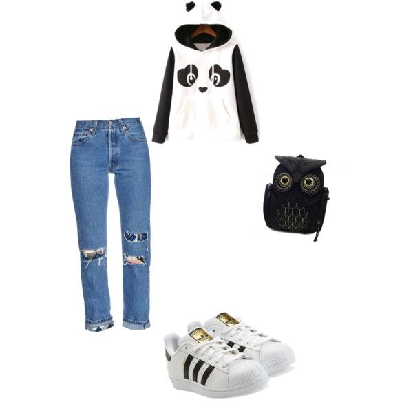 A fashion look from December 2015 featuring long sleeve hoodies, indigo blue jeans ve lacing sneakers. Browse and shop related looks.