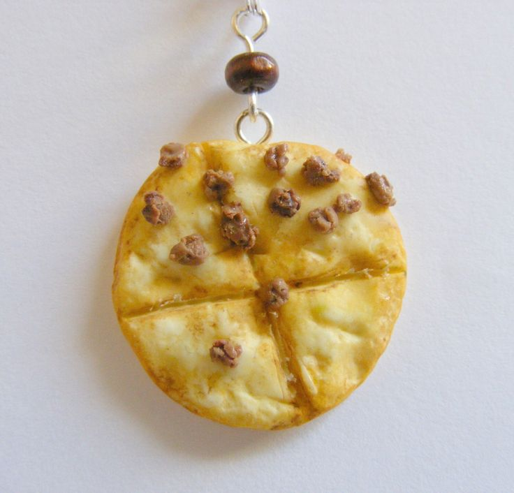 None Pizza with Left Beef Necklace, Pizza Necklace, Miniature Food Jewelry, Mini Food Pendant, Pizza Jewelry, Pizza Pendant, Food Necklace by NeatEats on Etsy https://www.etsy.com/listing/241537378/none-pizza-with-left-beef-necklace-pizza