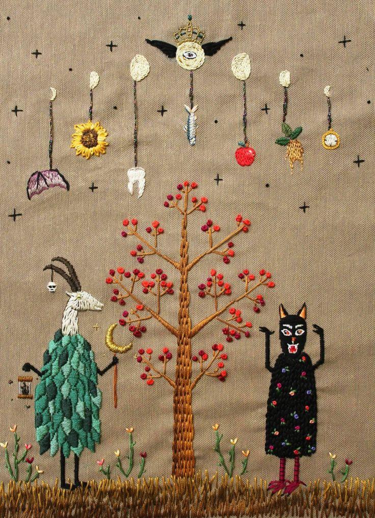 "erisplende: ""~Spring Ritual, embroidery by İrem Yazıcı www.etsy.com/… """