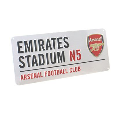 ARSENAL FC Emirates Stadium Metal Street Sign. Approx 40cm x 18cm. Official Licensed Arsenal street sign. FREE DELIVERY ON ALL OF OUR GIFTS